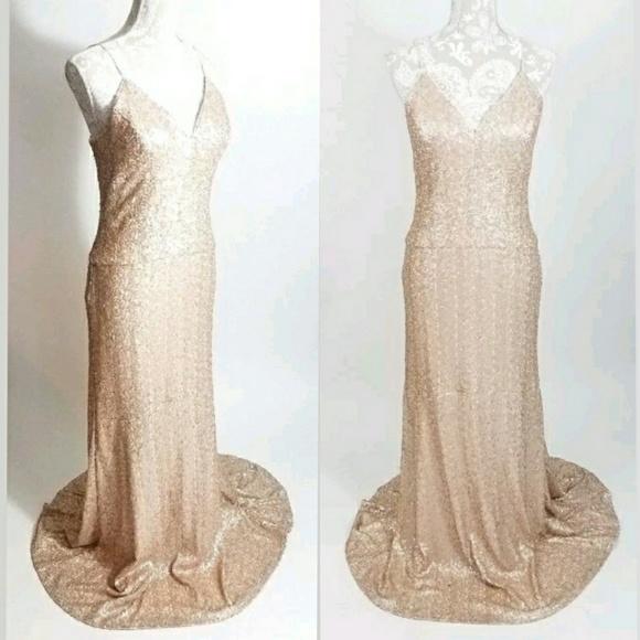 Nicole Miller New York Sequin Gown Blush Size 10 | Poshmark